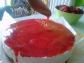 3° passaggio - copertura della Cheesecake alle fragole